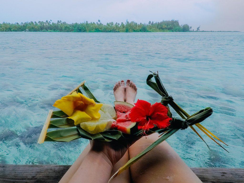 holiday in Tahiti- Bora Bora lunchtime